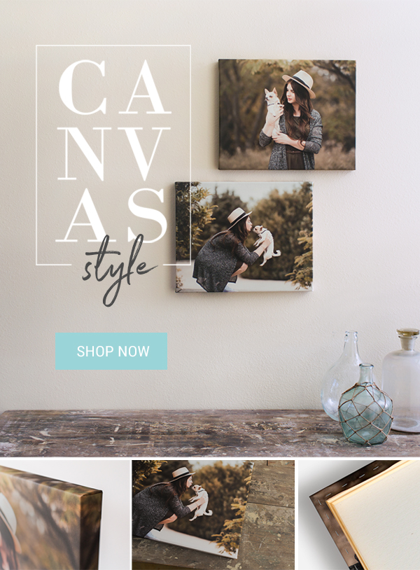 Save 50% on Canvas Prints